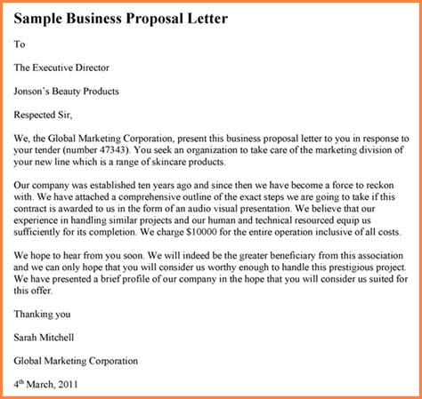 business letter starting new business 6 drafting business project