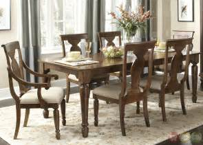 Formal Cherry Dining Room Sets by Rustic Cherry Rectangular Table Formal Dining Room Set