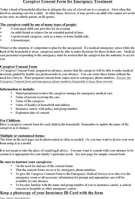 focus consent form template caregiver consent form for treatment for