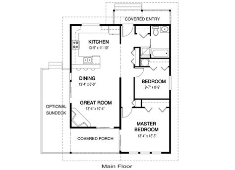 Small House Plans Under 700 Sq Ft by Impressive House Plans 1000 Sq Ft 8 Small House Plans