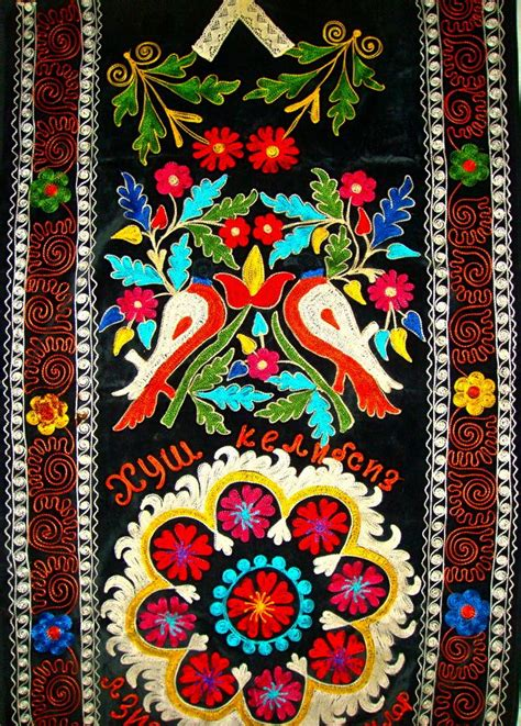 uzbek vintage suzani handmade embroidery embroidery pinterest 1000 images about embroidery indian pakistan central