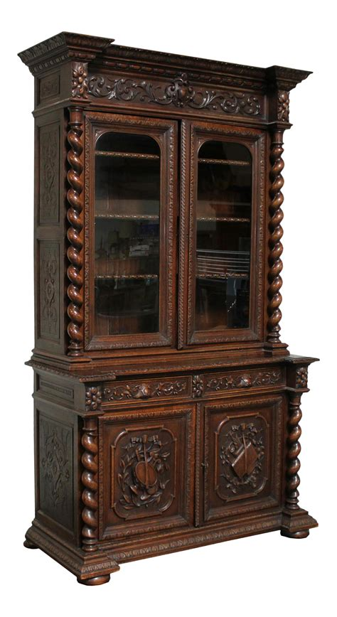 french style china cabinet antique french louis xiii hutch barley twist hunters china