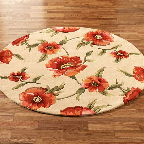 Poppy Kitchen Rug Poppies Rugs