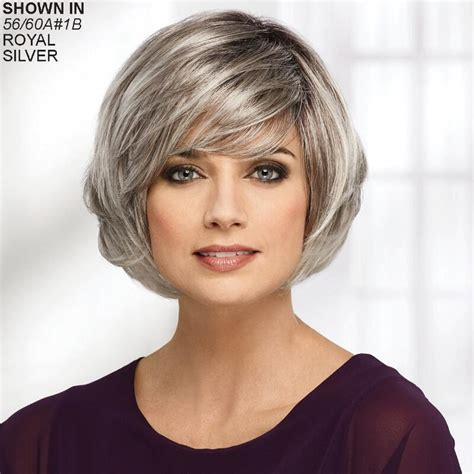 short frosted hairstyles to help grow out gray laurel whisperlite 174 wig by paula young 174 paula young