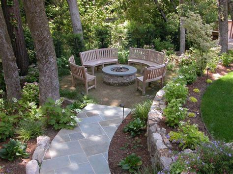 Outdoor Fire Pit Seating Ideas Quiet Corner Backyard Pit Landscaping Ideas