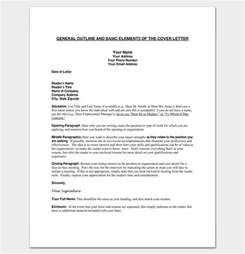 cover letter outline template 7 sles exles formats