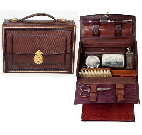 antique grand tour travel valet vanity items in