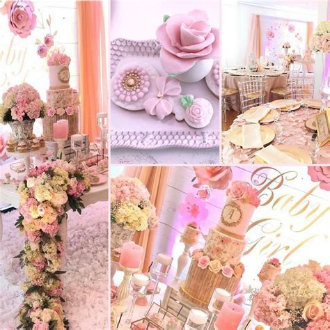 Pretty Pink and Floral Baby Shower   Baby Shower Ideas