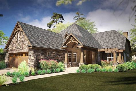 rugged house narrow rugged house plan with rear lanai 16893wg architectural designs house plans