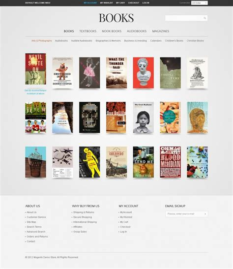 ecommerce website templates for books 15 best magento bookstore templates free premium