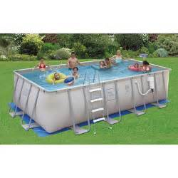 Backyard Pools Walmart Proseries Rectangular 12 X 24 X 52 Quot Metal Frame Swimming Pool Walmart