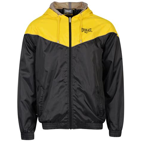 Hoodie Logo Everlast 1 everlast s jacket black yellow clothing zavvi