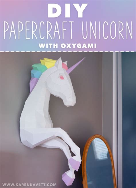 Papercraft Unicorn - kavett