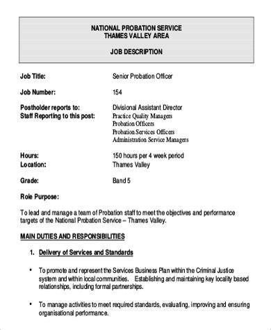 probation officer description 9 probation officer description sles sle
