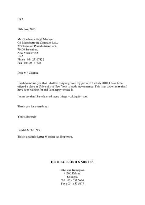 Resignation Letter Format Inform Jobs Accountancy Sample