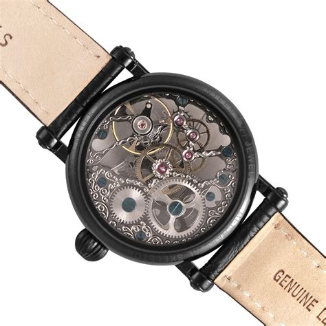 mechanical watch tattoo tattoo black mechanical skeleton watch made by rougois