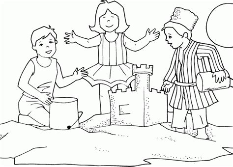 free coloring pages sand castle sand castle coloring page coloring home