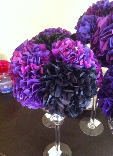 How To Make Tissue Paper Centerpieces - tissue paper centerpieces on martini glasses to make