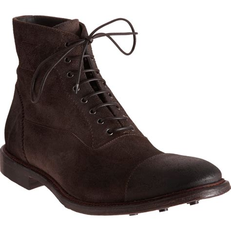 mcqueen cap toe balmoral boot in brown for