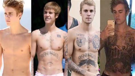 justin bieber removes tattoo justin bieber tattoo and body evolution youtube