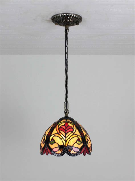 stained glass hanging light fixture tiffany hanging bar light stained glass island l