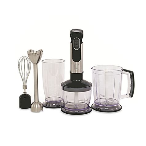 immersion blender bed bath and beyond wolfgang puck immersion blender with stainless steel wand
