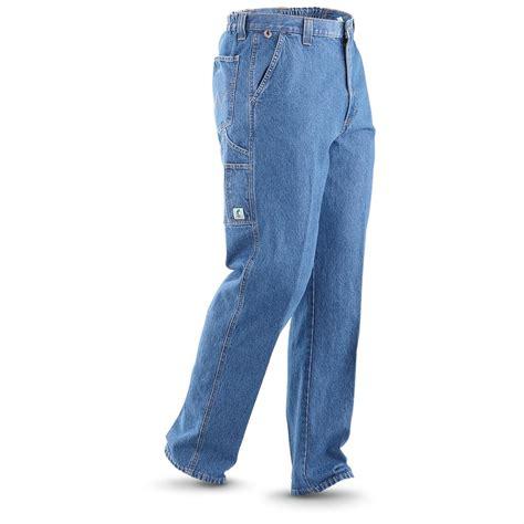 rugged wear clothing wrangler rugged wear angler indigo 226639 at sportsman s guide