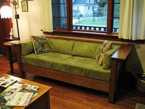 craftsman style couch mission style furniture raftertales home improvement