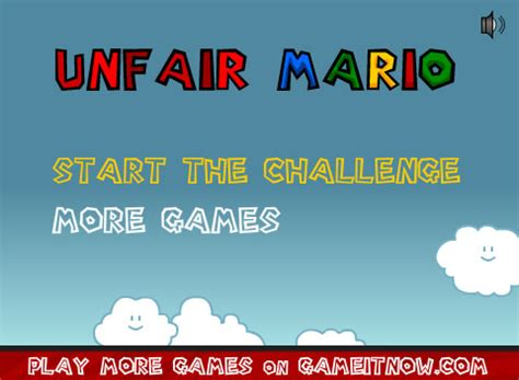 best games ever unfair mario play free online