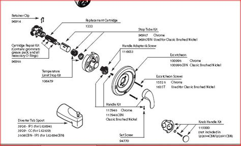 bathtub faucet parts diagram how to install bathtub faucet valve home improvement