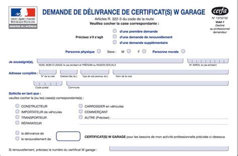 carte grise w garage comment remplir certificat w garage la r 233 ponse est sur