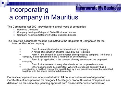 business registration mauritius global business mauritius presentation draft