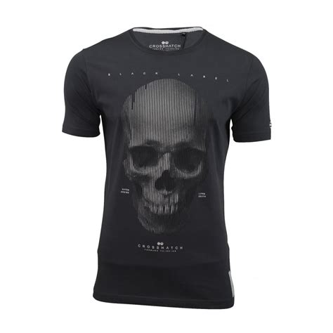 skull tshirt mens crosshatch mens carebrum designer casual skull t shirt