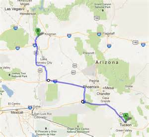 arizona road map with mileage happy trails on the road tucson az to laughlin nv