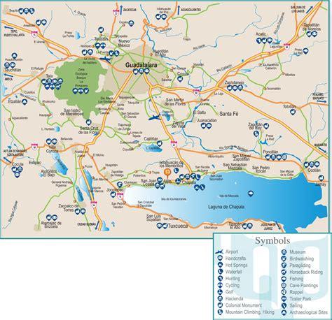 guadalajara on a map guadalajara area map