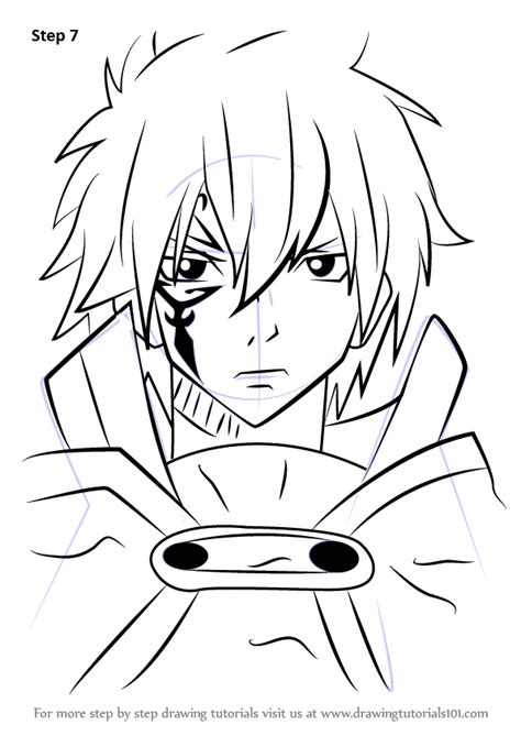 line art portrait tutorial learn how to draw jellal fernandes from fairy tail fairy