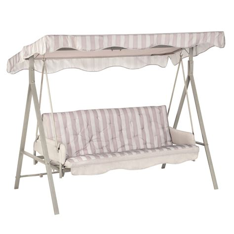 lowes swing canopy replacement lowes garden treasures sc8844gsn 3 person cushion swing