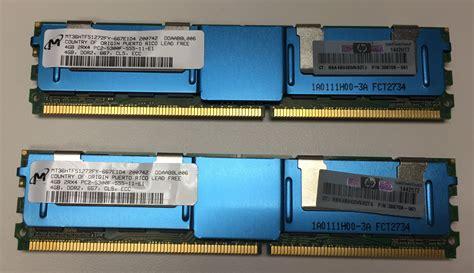 Memory Hp 64 Giga hp 397415 b21 398708 061 8 gig memory kit 2x 4gb memory sticks ddr2 ecc cl5