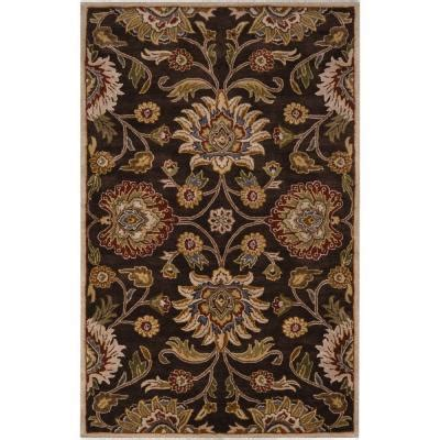 echelon area rug home decorators collection echelon brown 2 ft x 3 ft area rug 8784710820 the home depot