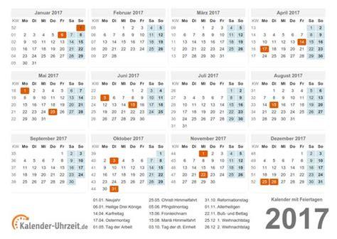 Feiertage Kalender 2017 Kalender 2017 Mit Feiertagen V1 Png 1050 215 745