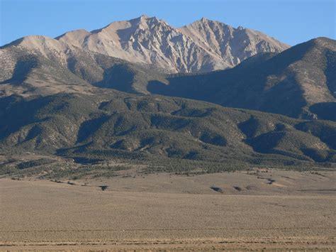 nevada mountains usa map boundary peak nevada