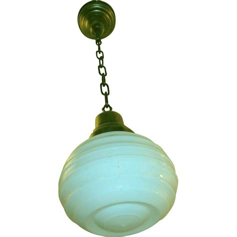 Antique Glass Pendant Lights Antique Milk Glass Pendant Light Fixture From