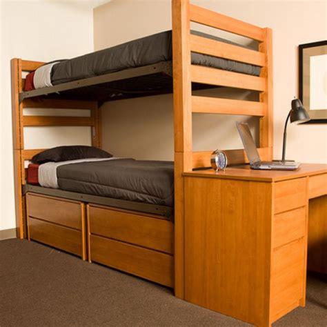 university loft graduate series twin xl bunk bed wild cherry finish     kids