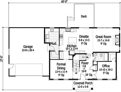 center hall colonial open floor plan 15 best images about house plans on pinterest 2nd floor