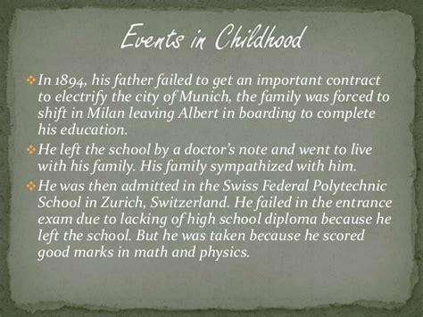 einstein biography ppt a short biography of albert einstein