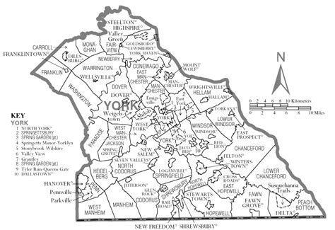 Pa Search York County File Map Of York County Pennsylvania Png Wikimedia Commons