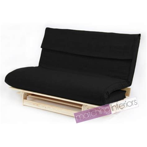 double futon base black double 2 seater fabric complete futon wood base