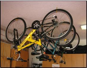 how to hang bicycles from the ceiling bike storage options garage tool advisor