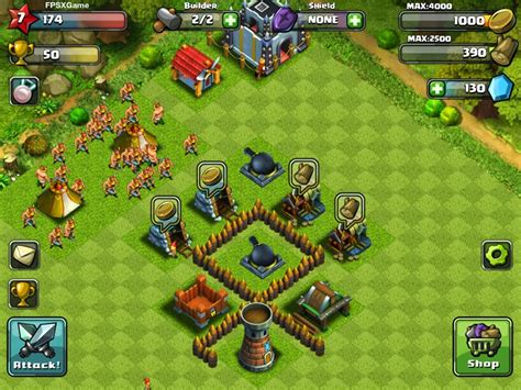 x mod game clash of clans for ios fpsxgames amazing clan wars ios game