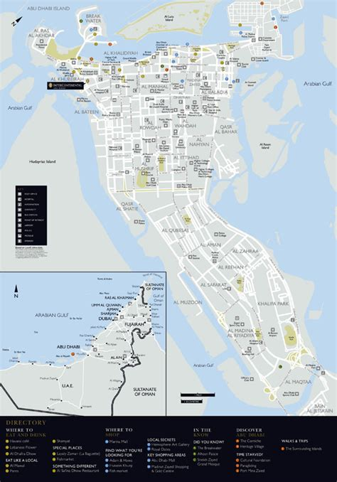 printable abu dhabi road map large detailed road and tourist map of abu dhabi city